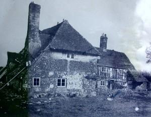 Pococks Cottages just before demolition.